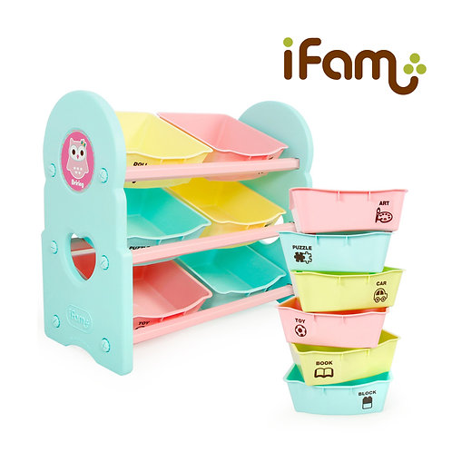 IFam Toy Cabinet - 3 Shelves - Mint