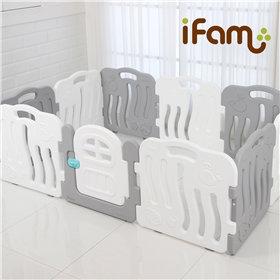 iFam Shell Baby Room Grey (L)  貝殻圍欄灰 (大)198x133x60cm