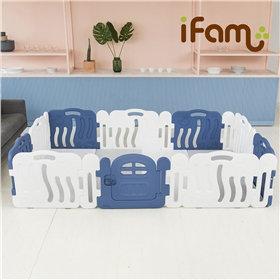 iFam Shell Baby Room Blue  (XL) 貝殻圍欄 藍 (加大) 246x149x60cm