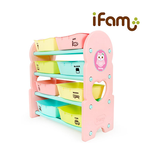 IFam Toy Cabinet - 4 Shelves - Pink