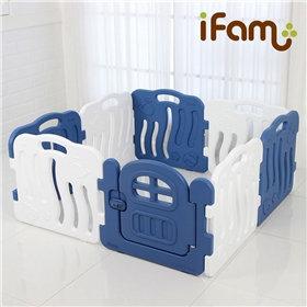 iFam Shell Baby Room Blue (S)  貝殻圍欄 藍 (細)133x133x60cm