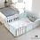 Thumbnail: iFam First Baby Room B+G  簡約風圍欄 粉藍+灰 207x147x60cm