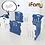 Thumbnail: 【Set】 iFam Shell Baby Room Blue (L) + Mat  【組合】 貝殻圍欄 藍 (大) + 地墊  198x13