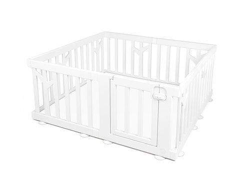 【Set】 iFam Birch Baby Room White+ Mat  【組合】 樺木圍欄 白  + 地墊 146x146x62.5cm