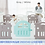 Thumbnail: iFam Tallest Baby Room Grey/White  最高圍欄 灰白 207x147x65.5cm