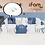 Thumbnail: 【Set】 iFam Shell Baby Room Pink (XL) + Mat  【組合】 貝殻圍欄 藍 (加大) + 地墊  246x149x60cm
