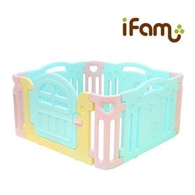 iFam Marshmallow Mint Baby Room  棉花糖圍欄 125x125x64.5cm