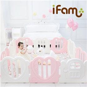 iFam Sweetheart Baby Room Pink (L) 心心圍欄 粉紅 (大) 220x148x61.4cm