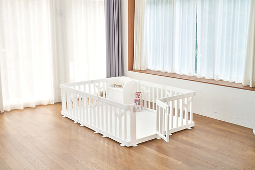 iFam Birch Baby Room White  樺木圍欄 白 217x146x62.5cm
