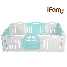 iFam Tallest Baby Room Mint/White  最高圍欄 綠白 207x147x65.5cm