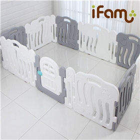 iFam Shell Baby Room Grey  (XL)   貝殻圍欄 灰 (加大) 246x149x60cm