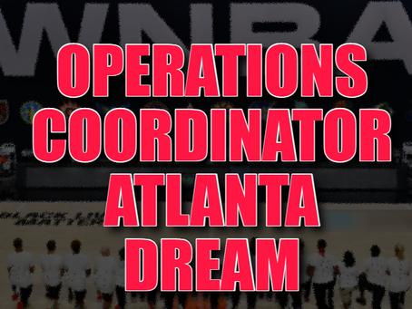 WNBA Job Opening: Operations Coordinator, Atlanta Dream