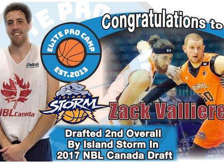 Zack Valliere Drafted 2nd at NBL Canada Draft Combine 2017 in Toronto