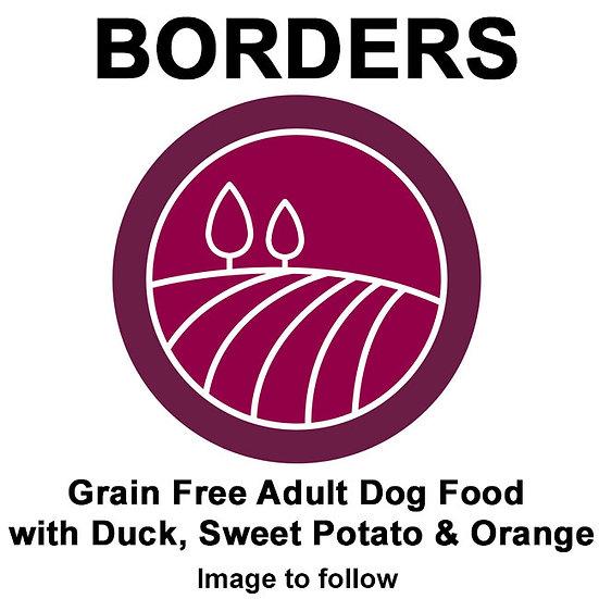 Borders Grain Free Adult Dog Food with Duck, Sweet Potato & Orange