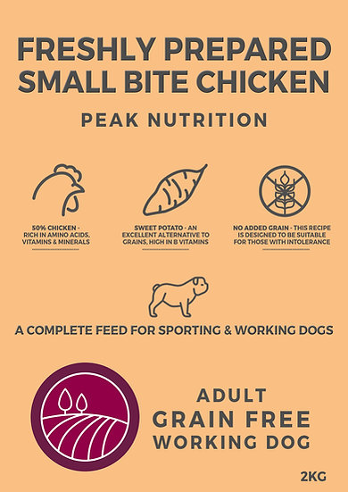Borders Grain Free Small Bite Dog Food with Chicken, Sweet Potato & Herb