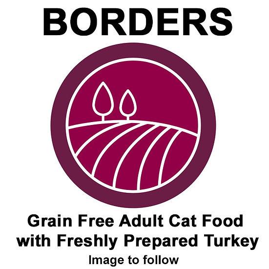 Borders Grain Free Adult Cat Food with Freshly Prepared Turkey 2kg
