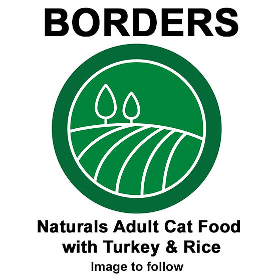 Borders Naturals Adult Cat Food with Turkey & Rice 2kg