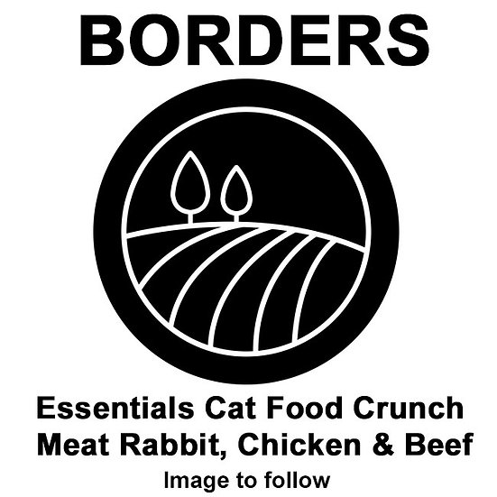 Borders Essentials Cat Food Crunch Meat Rabbit, Chicken & Beef 10kg