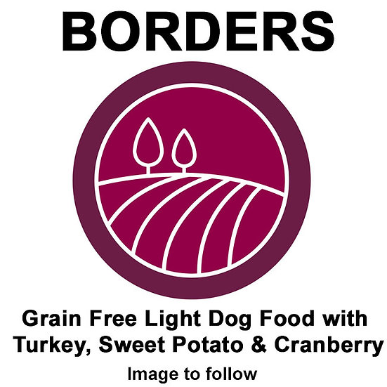 Borders Grain Free Light Dog Food with Turkey, Sweet Potato & Cranberry