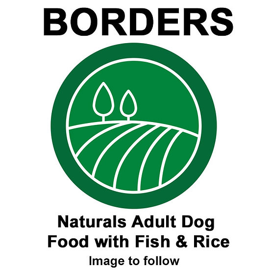 Borders Naturals Adult Dog Food with Fish & Rice