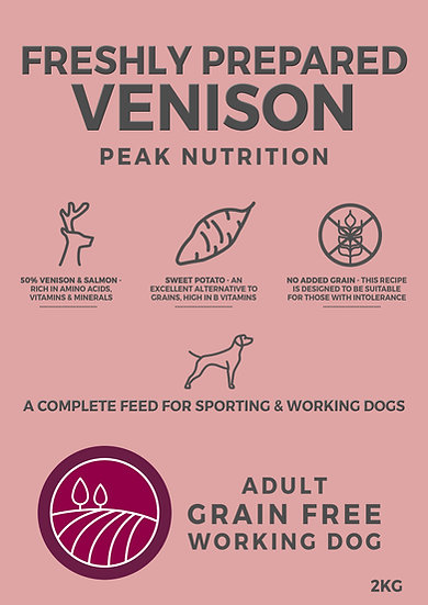 Borders Grain Free Adult Dog Food with Venison, Sweet Potato & Mulberry