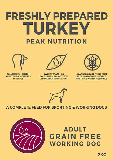 Borders Grain Free Adult Dog Food with Turkey, Sweet Potato & Cranberry