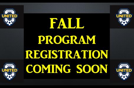 Fall Programs coming soon!!!
