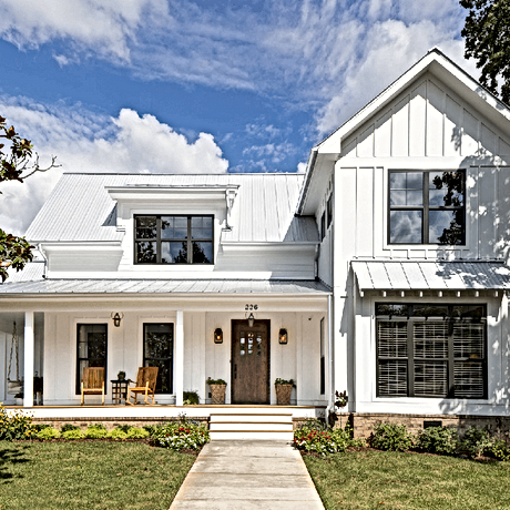 Clean White House With Sparkling Windows