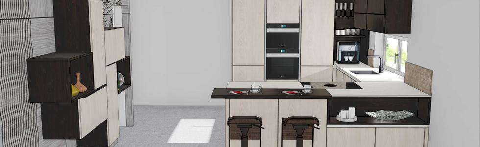 Brigitte Küche, U-Form inkl. Wohnwand