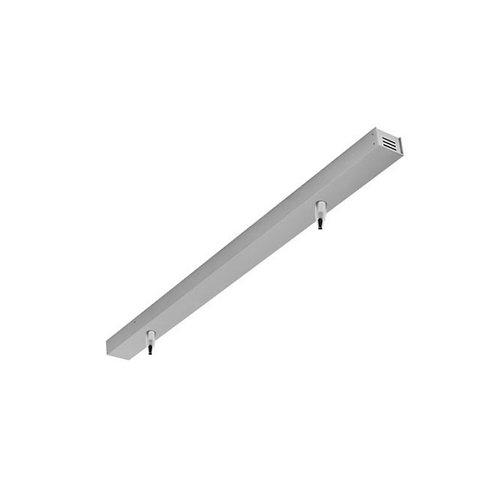 Aufhängung für LED-Pendelleuchten, silber matt