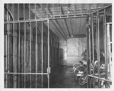Cell block with staff bicycles