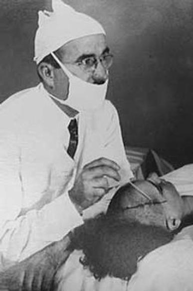 Doctor Performing Frontal Lobotomy, 1940s