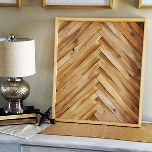 Custom Decor - featured Wood Herringbone Art