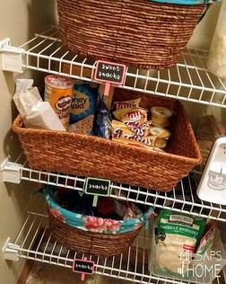 This client loves bright fun colors in her pantry!