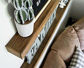 These custom floating shelves are now a