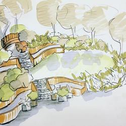 Concept ideas for a sloping woodland gar