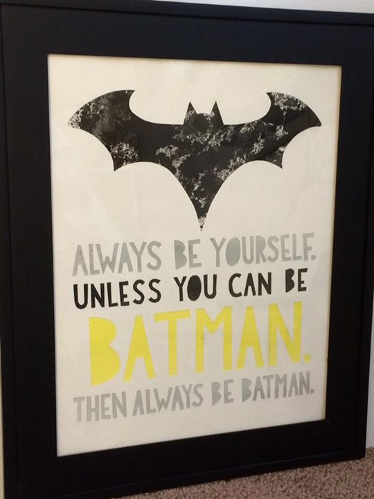 Always Be Batman - $165_11x14 watercolor, framed