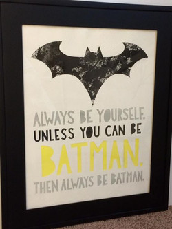 Always Be Batman - $165_11x14 watercolor, framed