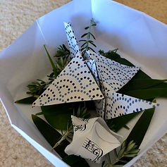 Making origami cranes