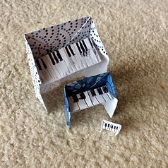 Making origami pianos