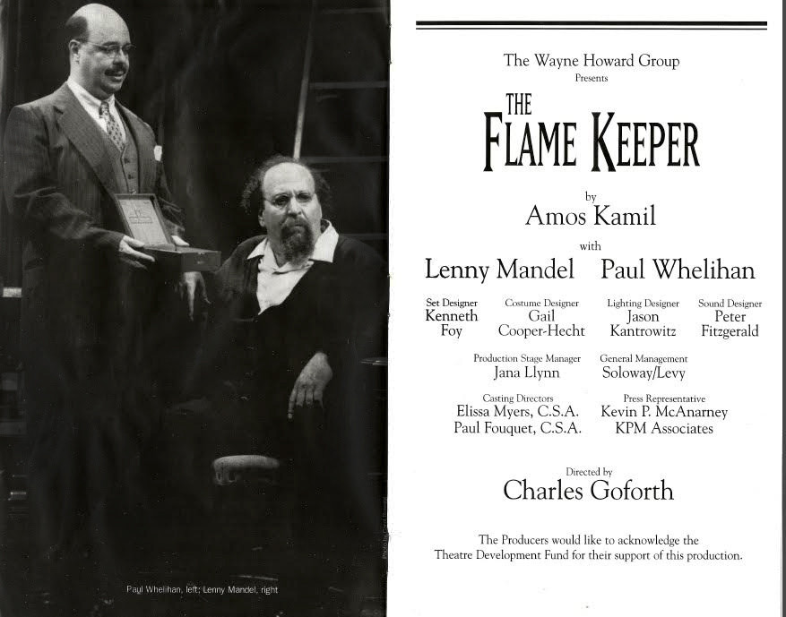 """""""The Flame Keeper"""" at The 47th Street Theater"""