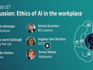 Ethics of AI in the Workplace - panel @ OECD