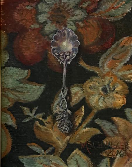 floral spoon