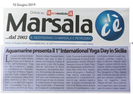 Marsala c'è - International Yoga Day 2019 Aquamarine