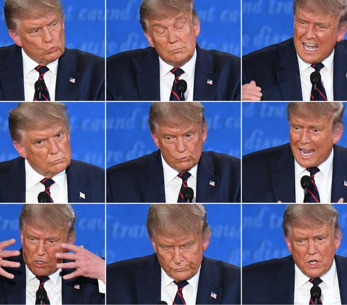 "Demented Donald and the first ""debate"""