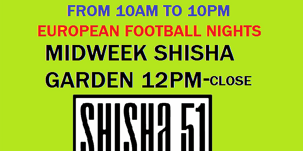 Thur - Europa League and Shisha