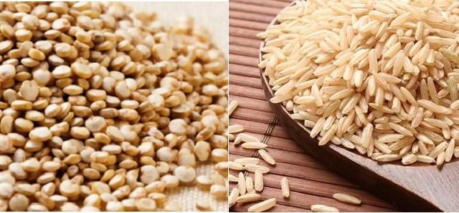 Arroz integral vs Quinoa ¡Tu decides!