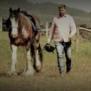 Steve and horse, Andy