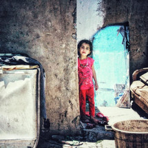 Refugee girl in Becca Valley Lebanon in area where conflict is taking place between ISIS and Hezbollah. Steve Addison photo