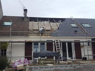 Isolation du toit par l'extérieur, Chanvre, lin et coton, Quincy-Voisins 77
